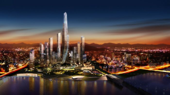 Yongsan International Business District of Seoul, South Korea