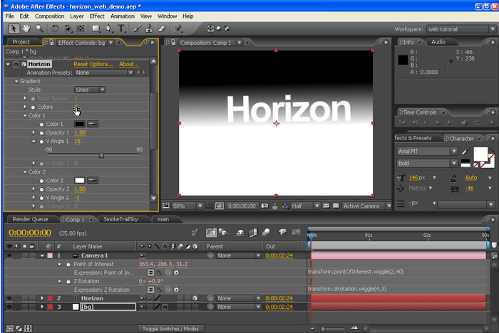 Trapcode Horizon