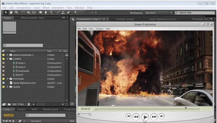 Action Essentials 2 in after effects